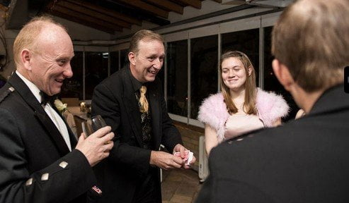 Close up Sutton Magician Magic OZ for wonderful magic at any special event