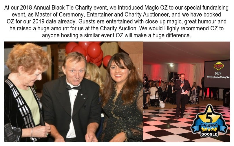 Charity auctioneer OZ